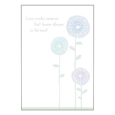 Hallmark Sympathy Greeting Card Love Creates Memories that Forever Blossom in the Heart 0250QSY1902