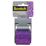 "Scotch® Decorative Shipping Packing Tape, Stained Glass, 1.88"" x 13.8 Yd."