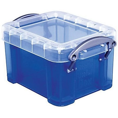 Really Useful 0.14 L Storage Box Transparent blue 0.14TB