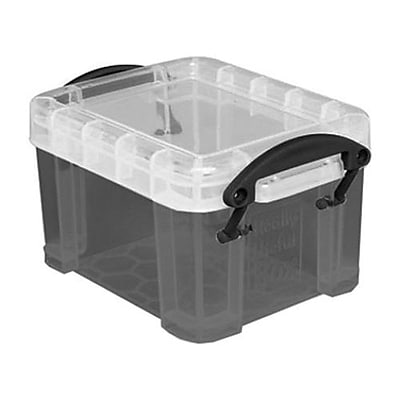Really Useful 0.14 L Storage Box Transparent smoke 0.14TSMK