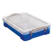 Really Useful 4 L Storage Box, Transparent blue (4TBL)