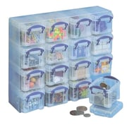 Really Useful 0.14 L Storage Boxes and Organiser, Clear (0.14X16CORG)