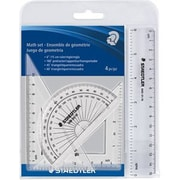 Staedtler 4 Piece Math Set Clear 1/Pack (569 WP4)