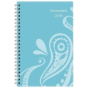 AT-A-GLANCE® 2016 Playful Paisley Weekly/Monthly Planner, Red (985-200-16)