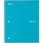 "Mead Five Star Trend Wirebound Notebook, Wide Ruled, 10 1/2"" x 8"", Blue (05238)"