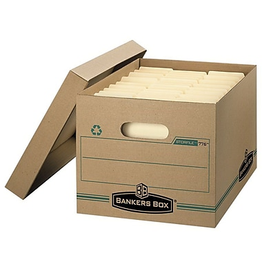 Bankers Box® Basic Strength Recycled File Storage Box, Letter/Legal Size (0077603/0077605)