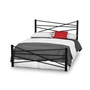 "Amisco (14369-54LC/25) Crosston Full Size Metal Bed 54"", Textured Black Metal"