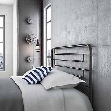 Amisco – Tête de lit double structure en métal 54 po Pier, fini métallique semi-transparent (14387-54-TLC/51)