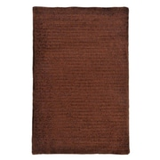 Colonial Mills Solid Chenille Chocolate Area Rug; Square 5'