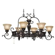 Wildon Home   Cartleton Chandelier Pot Rack w/ 8 Light