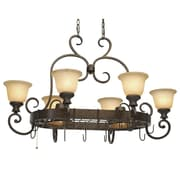 Wildon Home   Cambridge Chandelier Pot Rack w/ 8 Light
