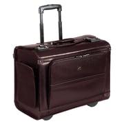 Mancini Business Leather Laptop Catalog Case; Burgundy