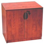 Boss Office Products 2 Door Storage Cabinet; Cherry