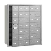 Salsbury Industries 4B+ Horizontal Mailbox 35 Doors Front Loading USPS Access ; Aluminum
