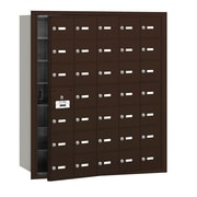 Salsbury Industries 4B+ Horizontal Mailbox 35 Doors Front Loading USPS Access ; Bronze
