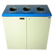 Frost 53-Gal Three Stream Free Standing Multi Compartment Recycling Bin; White/Blue