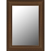 Hitchcock Butterfield Company Regal Copper & Gold Accents Framed Wall Mirror; 34'' H x 70'' W