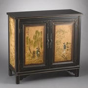 AA Importing 2 Door Cabinet with Oriental Lady Design