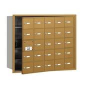 Salsbury Industries 4B+ Horizontal Mailbox 25 Doors Front Loading USPS Access ; Gold