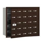 Salsbury Industries 4B+ Horizontal Mailbox 25 Doors Front Loading USPS Access ; Bronze