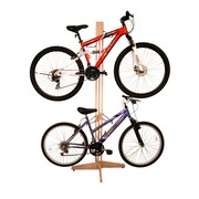 Gear Up Inc. Signature Series 4 Bike Oakrak Freestanding Storage Rack; Unfinished