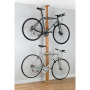 Gear Up Inc. Signature Series 2 Bike Oakrak Floor to Ceiling Storage Rack; Golden Pecan