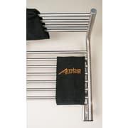 Amba Jeeves Wall Mount Electric M Shelf Straight Towel Warmer; Brushed