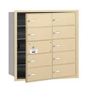 Salsbury Industries 4B+ Horizontal Mailbox 10 Doors Front Loading USPS Access ; Sandstone