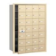Salsbury Industries 4B+ Horizontal Mailbox 28 Doors Front Loading USPS Access ; Sandstone