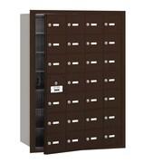Salsbury Industries 4B+ Horizontal Mailbox 28 Doors Front Loading USPS Access ; Bronze