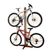 Gear Up Inc. Signature Series 4 Bike Oakrak Freestanding Storage Rack; Dark Walnut