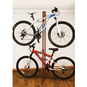 Gear Up Inc. Signature Series 4 Bike Oakrak Freestanding Storage Rack; Golden Pecan
