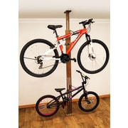 Gear Up Inc. Signature Series 2 Bike Oakrak Floor to Ceiling Storage Rack; Dark Walnut