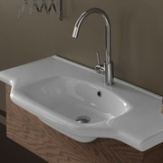 CeraStyle by Nameeks Yeni Klasik 40'' Rectangular Ceramic Wall Mounted or Self-Rimming Sink