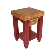 John Boos American Heritage Prep Table w/ Butcher Block Top; Alabaster White by