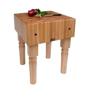 John Boos BoosBlock Butcher Block Prep Table; 18 inch W x 18 inch D by
