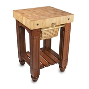 John Boos American Heritage Prep Table w/ Butcher Block Top; Warm Cherry by