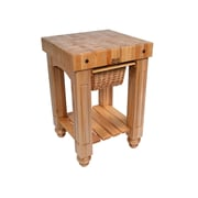 John Boos American Heritage Prep Table w/ Butcher Block Top; Natural Maple by