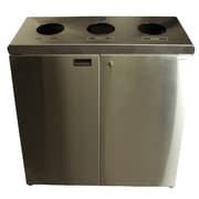 Frost 53-Gal Three Stream Free Standing Multi Compartment Recycling Bin; Stainless Steel