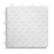 BlockTile 12'' x 12''  Garage Flooring Tile in White