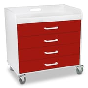 TrippNT Extra Wide Storage Cart; Cherry Red