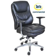 Serta at Home Series 600 Puresoft  High-Back Task Chair; Black