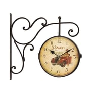 AdecoTrading Vintage-Inspired Retro Round Wall Hanging Clock