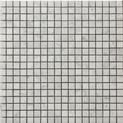 Emser Tile Natural Stone 0.5'' x 0.5'' Marble Mosaic Tile in Bianco Gioia