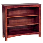 Bolton Furniture Wakefield 34''H  Wood Bookcase with Two Adjustable Shelves; Cherry