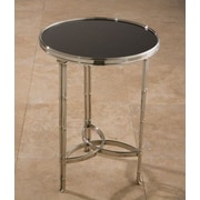 Global Views Draw Attention End Table; Nickel