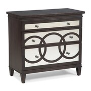 Fairfield Chair 3 Drawer Chest; Charcoal Graphite