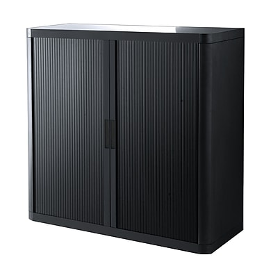 Paperflow EasyOffice 2 Door Credenza; Black