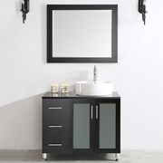 Vinnova Tuscany 36'' Single Vanity Set with Mirror; Espresso