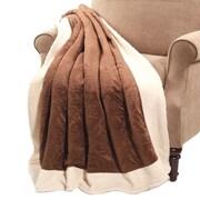 BOON Throw & Blanket Micro Plush Sherpa Throw; Brown